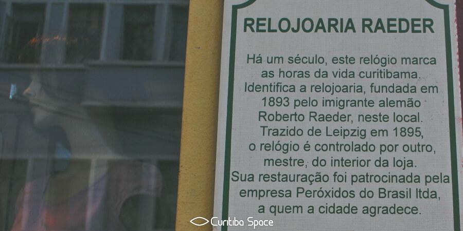 Relógio da Rua Riachuelo - Curitiba Space