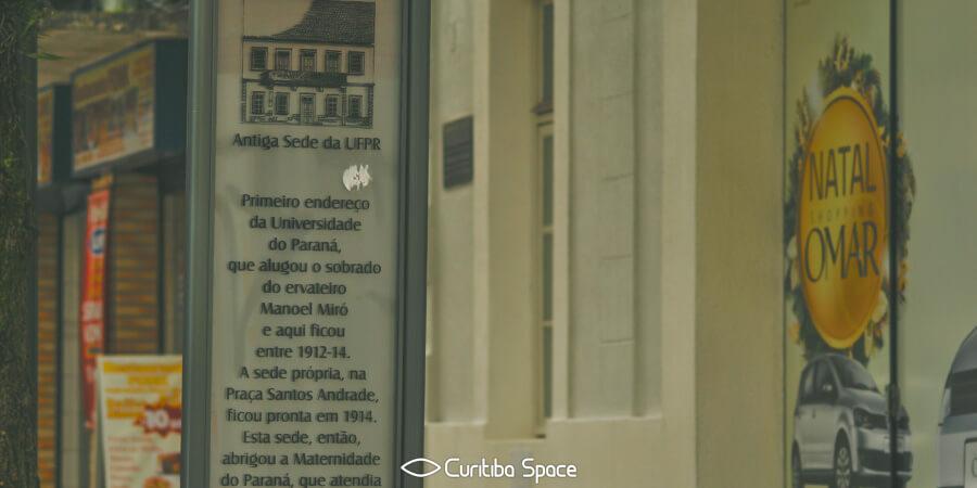 Universidade Federal do Paraná - Antiga Sede da UFPR - Shopping Omar - Curitiba Space