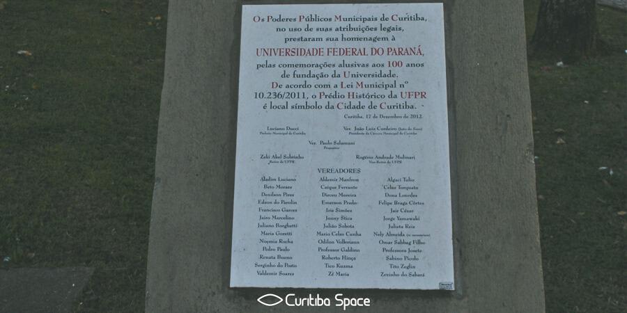 Universidade Federal do Paraná - UFPR - A primeira Universidade do Brasil - Curitiba Space