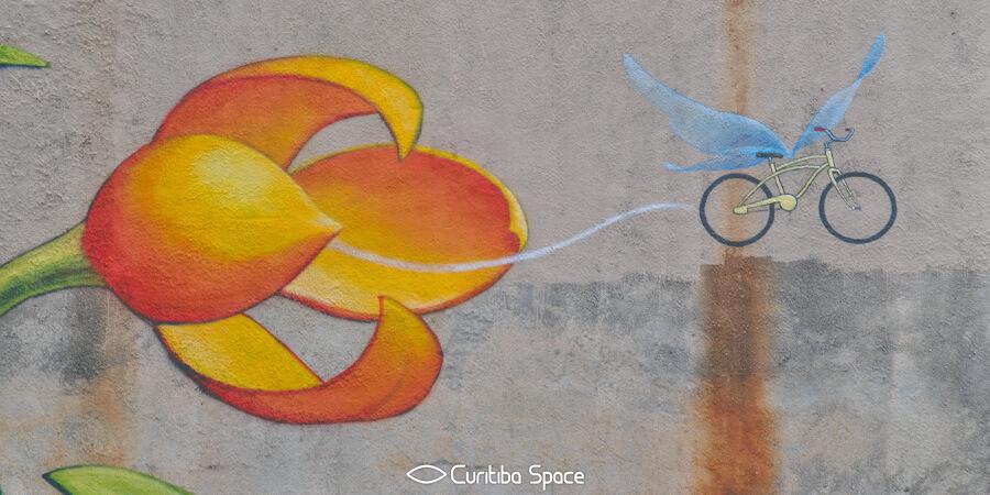 Arte para o III Fórum Mundial da Bicicleta - Mona Caron - Arte Urbana em Curitiba - Curitiba Space