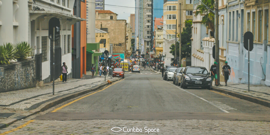 As primeiras ruas de Curitiba - Rua do Rosário - Curitiba Space