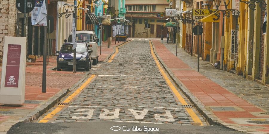 As primeiras ruas de Curitiba - Rua São Francisco - Curitiba Space