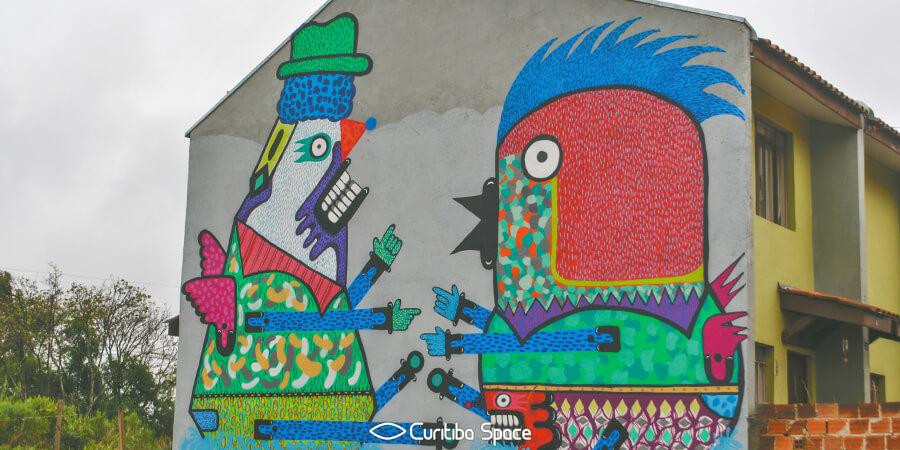 Galeria a céu aberto no Tatuquara - Japem, Auma e Silvio - Arte Urbana em Curitiba - Curitiba Space