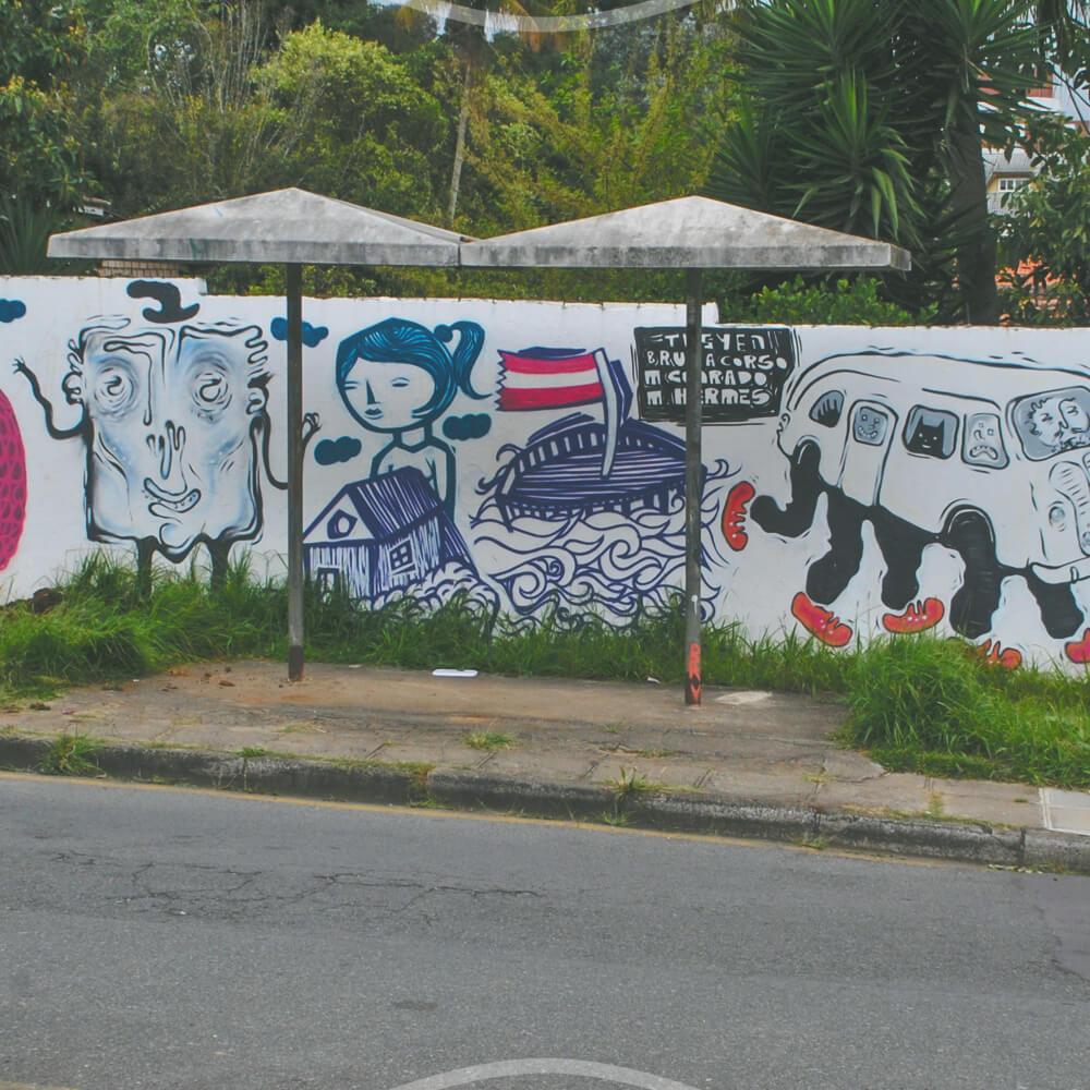 Grafite Coletivo No Bairro Ahú