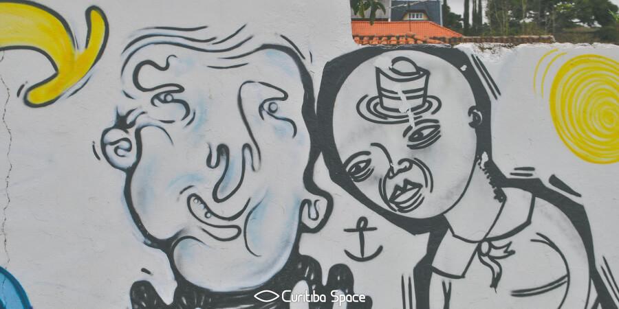 Grafite coletivo no bairro Ahú - Arte Urbana em Curitiba - Curitiba Space
