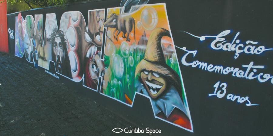 Grafite na Rua 24 de Maio - Bolacha - Arte Urbana em Curitiba - Curitiba Space