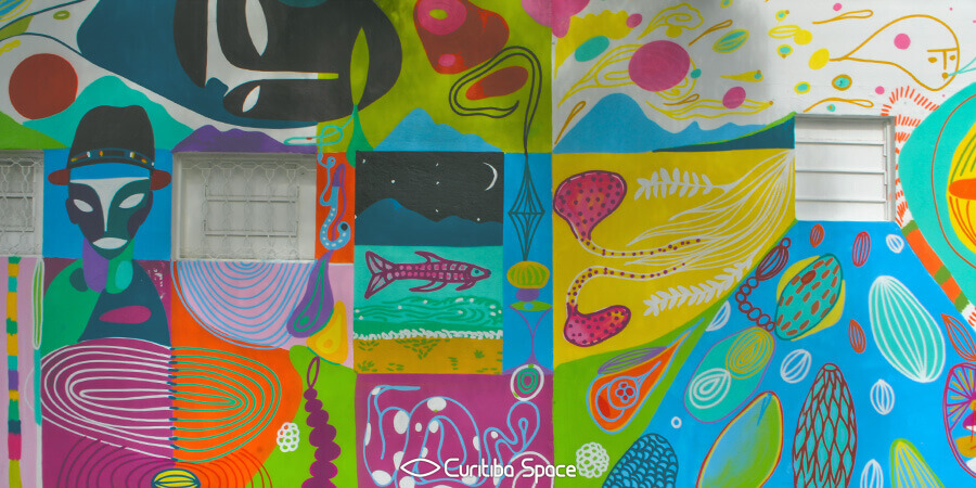 Grafite na Rua Kellers - Rimon Guimarães - Arte Urbana em Curitiba - Curitiba Space