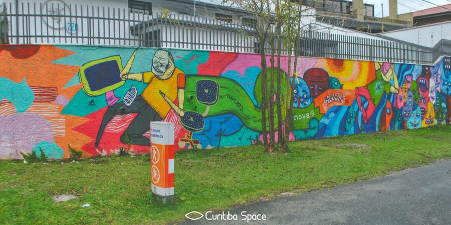 Gravite na Rua Euclides Bandeira - Jorge Galvão - Arte Urbana em Curitiba - Curitiba Space