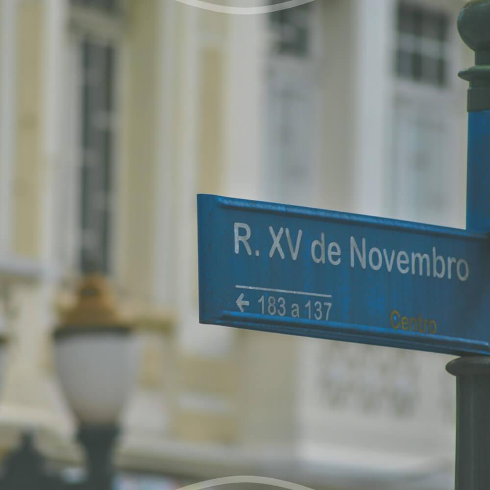 Paisagem Urbana Da Rua XV De Novembro
