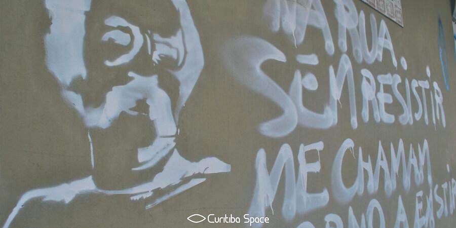 Paulo Leminski - Arte de Nadine Torres no Água Verde - Curitiba Space