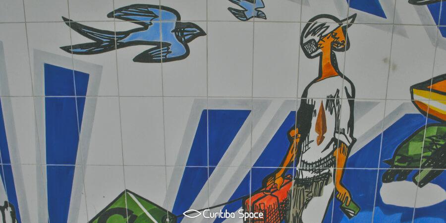 Poty Lazzarotto - A Viagem - Aeroporto Afonso Pena - Curitiba Space