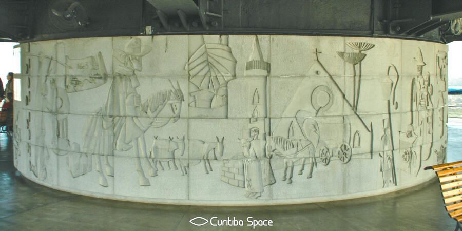 Poty Lazzarotto - As Comunicações - Torre Panorâmica - Curitiba Space