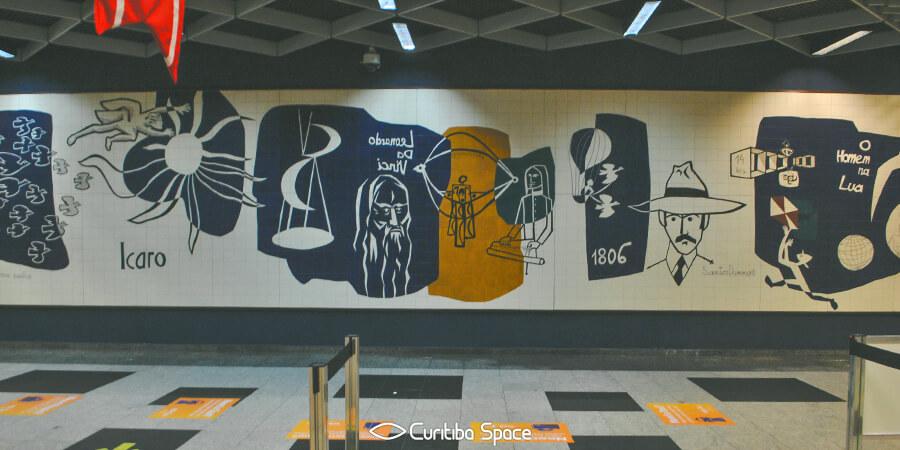 Poty Lazzarotto - O Eterno Sonho - Aeroporto Afonso Pena - Curitiba Space