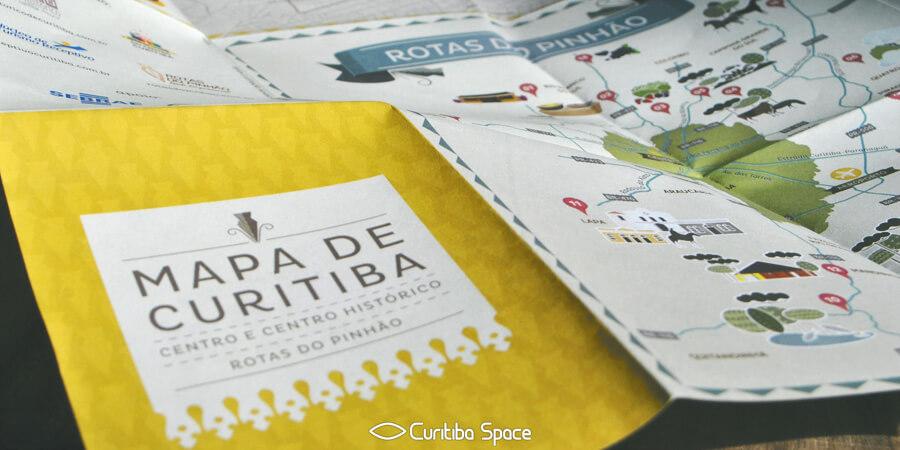 Mapa de Curitiba - Rede do Centro Histórico - Núcleo de Turismo Receptivo - Rota do Pinhão - Curitiba Space